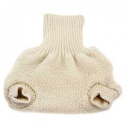 Mutandina copripannolino in lana lavorata