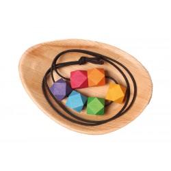 Collana in legno Colori dell'arcobaleno