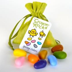 Sacchetto 10 pezzi Crayon Rocks in cera di soia vegan - sacchettino verde