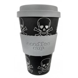 Ecoffee cup Skullduggery mtazza riutilizzabile e biodegradabile 400ml