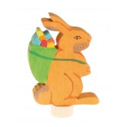 Personaggio in legno Grimm's - Coniglio con cesto