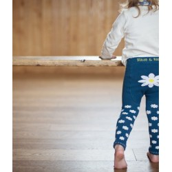 Leggings in maglina Margherita blu