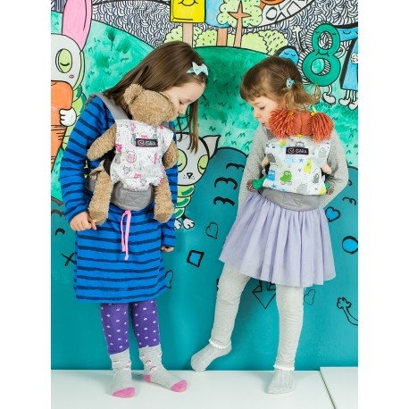 Marsupio giocattolo double face  ISARA Toy carrier Urban Monsters and Whiskers's tale