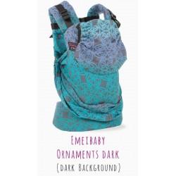 Emeibaby Toddler size - marsupio ergonomico ibrido - spedizione gratuita  - Dunkel Ornament Rainbow
