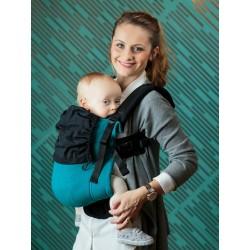 Marsupio ergonomico regolabile Isara V3 Peacoquette toddler half wrap conversion - spedizione gratuita