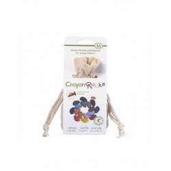 Sacchetto 16 pezzi Crayon Rocks in cera di soia vegan- sacchettino ecrù