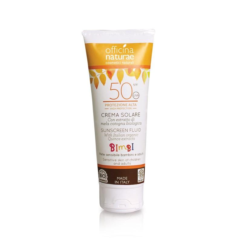 Crema solare fluida -spf 50- protezione alta- filtri fisici