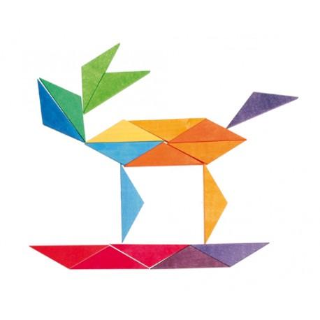 Primi puzzle e costruzioni - ottagono arcobaleno