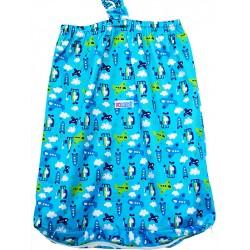 Wet bag con cerniera - fino a 20 pannolini - Sky