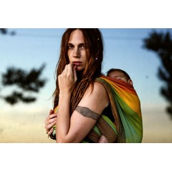 Fascia Girasol tessitura diamante - Gold Rainbow