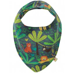 Bavaglino bandana Jungle Safari in cotone bio Frugi