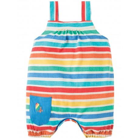 Salopette Beau Beach - Rainbow candy stripe - Frugi