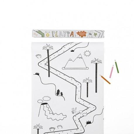 PlayPa - Rotolo da disegno - Jungle
