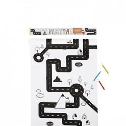 PlayPa - Rotolo da disegno - Road